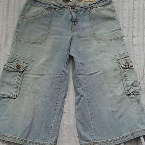 Tommy Hilfigir Wide-leg Capri Jeans